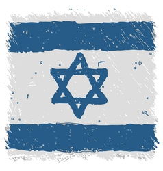 Flag of Israel handmade square shape vector image