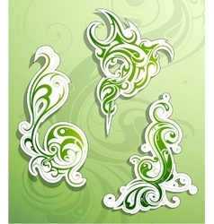 Floral ornaments as design elements vector image