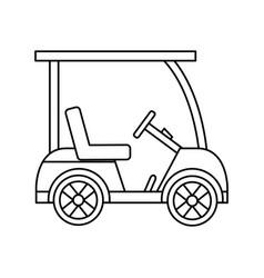 golf sport car vehicle transport vector image