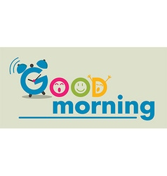 good morning flat style vector image vector image