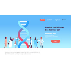 Group arabic doctors hospital dna genetic analysis vector
