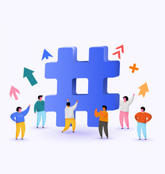 Hashtag sign concept hashtag for social media vector
