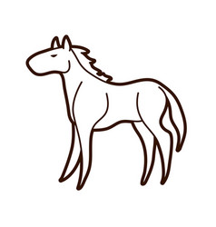 horse standing cartoon graphic vector image
