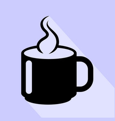 hot cup coffee icon isolated vector image