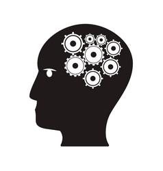 Human head gear idea teamwork concept vector