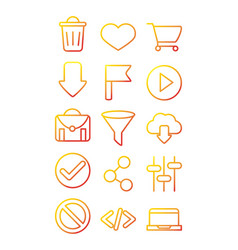 interface internet web technology digital icons vector image
