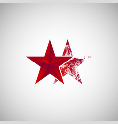 Isolated two red star logo vector