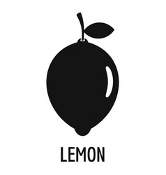 Lemon icon simple style vector