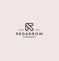 Letter r arrow icon logo design vector