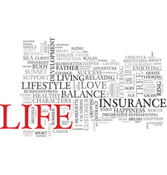 life word cloud concept vector image