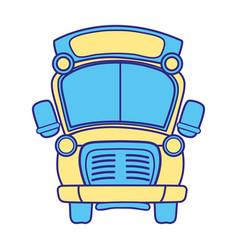line color school bus transportation to education vector image