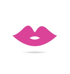 lips pink color vector image