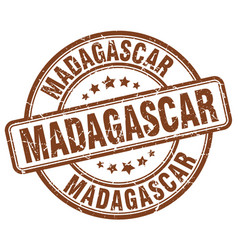 Madagascar brown grunge round vintage rubber stamp vector