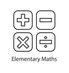 maths symbols linear icon vector image