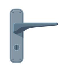 metal door handle house or apartment interior vector image