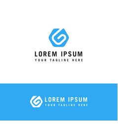 modern letter g logo template design vector image
