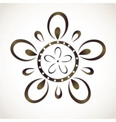 Monochrome flower pattern vector image