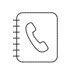 office address book contac name phone vector image