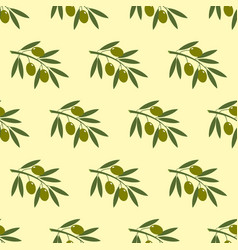 Olive branch seamless pattern vector