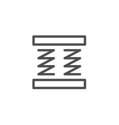 Orthopedic mattress scheme line icon vector