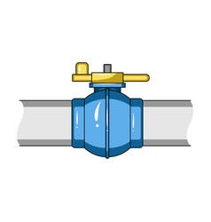 pipeline shutteroil single icon in cartoon style vector image