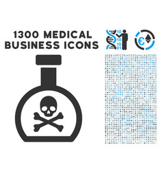 Poison retort icon with 1300 medical business vector