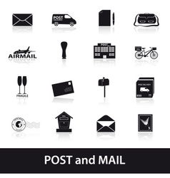 Post and mail icons set eps10 vector