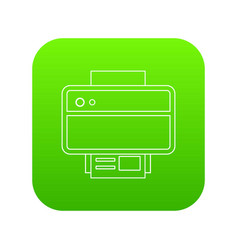 printer icon green vector image