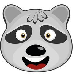 Raccoon cartoon vector