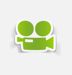 Realistic design element movie camera vector
