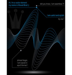 Rhythmic flowing lines chiffon dynamic background vector