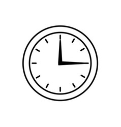 round clock time hour isolated image vector image