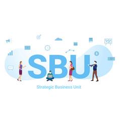 Sbu strategic business unit concept with big word vector
