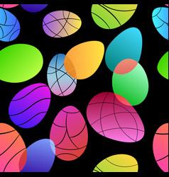 seamless pattern colored easter eggs vector image