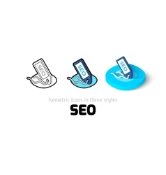 SEO - search engine optimization icon in different vector image