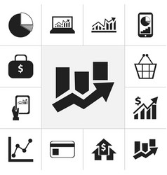 Set of 12 editable logical icons includes symbols vector