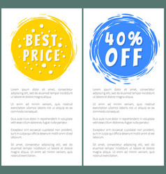 Set of hot sale best price advertising banners vector