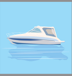 Speedboat rest travel vector