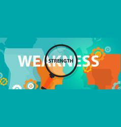 Strength weakness analysis swot in business vector