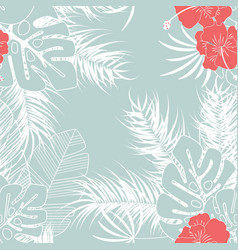 summer seamless tropical pattern with monstera vector image
