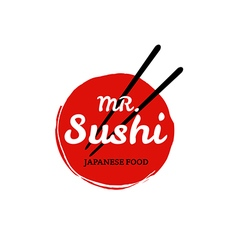 Sushi logo on white background vector