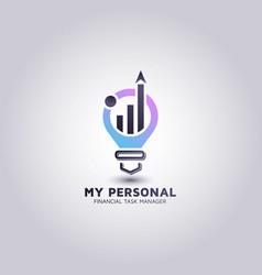 Template for financial advisor logos design vector