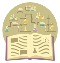 Textbook on Chemistry vector image