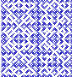 traditional russian and slavic ornamentwith blue vector image