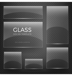 Transparent glass vertical and horizontal vector