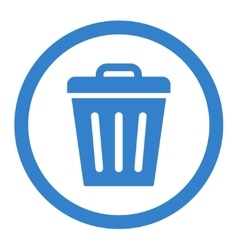 Trash Can flat cobalt color rounded icon vector