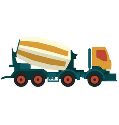 Truck concrete and cement mixer vector