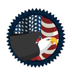 united states eagle design vector image