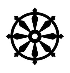 Wheel samsara symbol reincarnation the vector