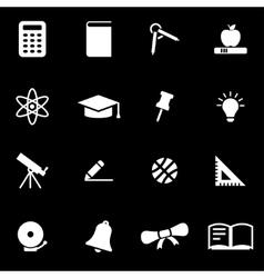 White education icon set vector